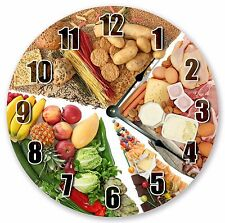 "10.5"" THE MAIN FOOD GROUPS CLOCK Large 10.5"" Wall Clock Home Décor Clock - 3173"