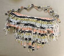Boys + Arrows Indian Summer Bandeau Bikini Top Fringe Bohemian Medium