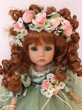 "NEW Linda Rick TIMELESS BEAUTY Green Dress 14"" Vinyl Doll The Doll Maker Redhead"