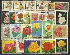 ROSES Collection Packet 25 Different WORLD Stamps