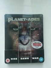 Planet of the Apes Trilogy Steelbook Edition New and Sealed