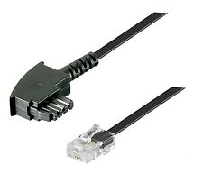 DSL Internet Router Kabel 3 m FritzBox Speedport EasyBox TAE F RJ45 schwarz 3m