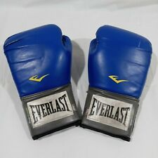 Everlast EverFresh Blue Traditional Boxing Gloves 14oz With Thumb Lock
