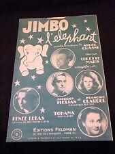 Partition Jimbo l'éléphant Mars Hélian Lebas Claudel Music Sheet