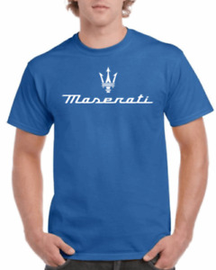 MASERATI TRIDENT PERFORMANCE RACING CARS T-SHIRT 100% COTTON TEE IN MULTICOLOR