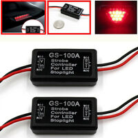 Vehicle Car GS-100A LED Brake Stop Light Strobe Flash Module Controller Box YNWK