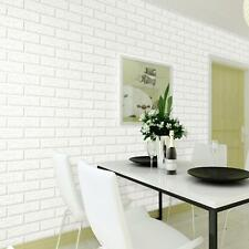 10M Bright 3D Brick Stone Pure Textured Contact Paper Wallpaper Roll Background