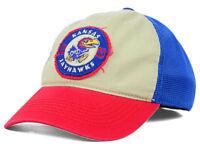 Kansas Jayhawks NCAA Top of the World Retro Flex Fitted Cap Hat - Size: M/L