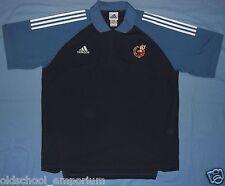 SPAIN (España) / 2000-2001 ADIDAS - vintage MENS navy / blue polo Shirt. Size XL