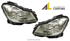 Mercedes C250 C300 Pair Set of Left and Right Halogen Headlight Assemblies OEM