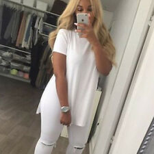 New Womens Short Seeve Top T-Shirt Party Cut Out Blouse Tee Shirt Clothes Summer