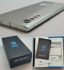 Open Box - LG Velvet 5G LM-G900UM GSM AT&T + Cricket - 128GB - Aurora Silver