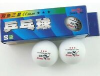 New 2 Boxes(6 Pc) Double Fish 3* 40MM Olympic Table Tennis White Ping Pong Balls