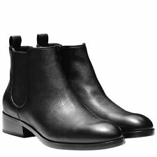 LTB: COLE HAAN LADIES BLACK PULL ON LEATHER ANKLE BOOTS US 9.5