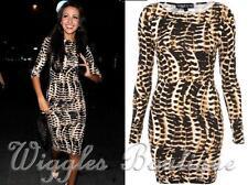 TopShop Long Sleeve Stretch, Bodycon Clubwear Women's Dresses