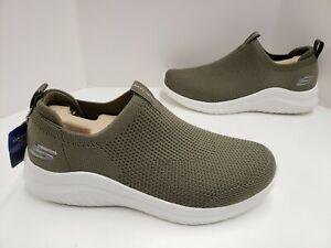 Mens Skechers ULTRA FLEX 2.0 KWASI Trainer Shoes Olive 232047 OLV Medium Width