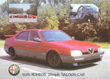 NOW  REDUCED ALFA ROMEO 164 'SILHOUTTE ' PROCAR SALES BROCHURE/SHEET LATE 1980s