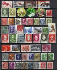 STAMPS MOSTLY NORWAY USED LOT OF 50 PLUS  REF 1230 FS