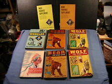 VINTAGE BOY SCOUT BOOKS ORDER OF THE ARROW,WEBELOS,BEAR,WOLF.CUB SCOUT PARENTS