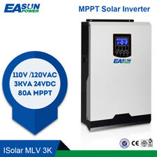 MPPT 110V  2400W 24V Solar Inverter Off Grid Inverter 80A MPPT 60A AC Charger