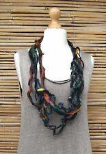 Zuza Bart * Design HAND MADE BELLA lana/lino ricchi Collana ** Multicolore **