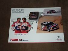 Sebastien LOEB - (2012) Citroen DS3 WRC, Karte/card cca 20x28 cm