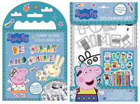 Peppa Pig Carry Along & Peppa Pig Colouring Set Peppa Gift