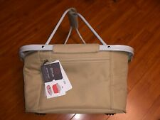 Picnic Time Metro Basket Insulated Cooler Tote Beige Beach Party NWT