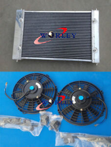 For VW POLO 86C 1.3 G40 COUPE 1982-1994 Aluminum Radiator & FANS manual MT 83 84