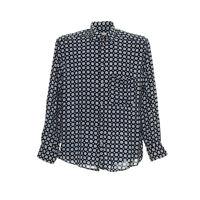 Vintage Herren Langarmhemd Größe M Freizeit Retro Shirt Muster Print Italy