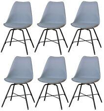 6x Chaise de salle à manger Niko cuisine à set en gris