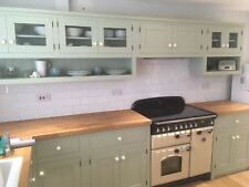 Bespoke, Solid Wood, Handmade Kitchen Furniture Units with Oak Worktop