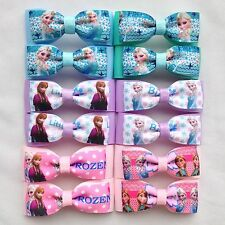 Yayu 12PCS Girls Handmade Frozen Ribbon Hair bows Aligator Hair Clips lot 3''
