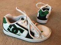 DC Shoes Cousa White Leather Trainers Pumps Uk Size 13 VGC !