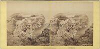 Monaco Panorama Del Rocher Stereo Aleo & Davanne Vintage Albumina Ca 1860