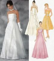 EVENING Dress | BRIDAL Gown | Optional OVERDRESS | Sizes 6-12 | Sewing Pattern
