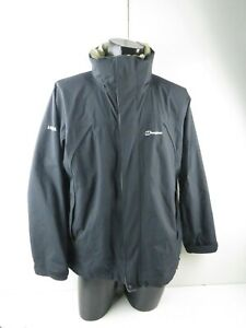 Berghaus blue nylon aquafoil full zip Jacket. UK men's Medium concealed hood