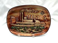Vintage Ship Boat Wall Plate River Steamboat by Erich Stauffer 8182