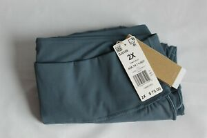 Adidas Women's Plus Size 2X & 3X Legacy Blue Heat.rdy 7/8 Tights - MUST SEE