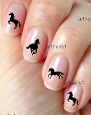 Black Horse Nail Art Silhouette Water Decals Sticker Manicure Salon Polish Gift