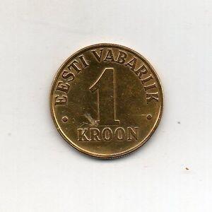 Estonia 24K Gold Plated 1 Kroon 2000