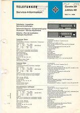 Telefunken Service Schaltplan-Lagepläne Gavotte 301 Jubilate 401  B1333