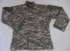 U.S. Army Men's Full Zip Combat Cargo Camouflage Uniform Jacket - Medium Long