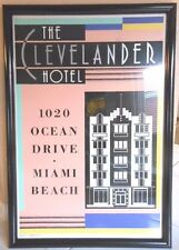 Vintage Woody Vondracek Poster, The Clevelander Hotel, Miami Beach, Deco