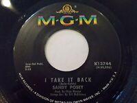 Sandy Posey I Take It Back / The Boy I Love 45 MGM Vinyl Record