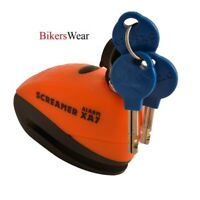 Oxford Screamer - XA7 Alarm Disc Lock Orange/Matt Black with 3 keys