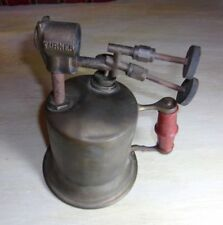 EXTREMELY RARE ANTIQUE / VINTAGE TURNER  DOUBLE-JET BLOWTORCH / BLOW TORCH :
