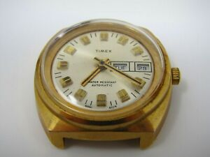 Vintage Timex Watch 1974 03374 Self Wind NO Band Water Resistant Automatic