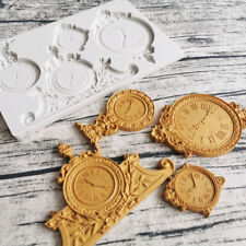 Steampunk Clock Silicone Fondant Mold Cake Border Topper Decor Chocolate Mould