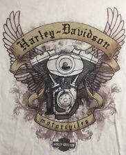 Zion National Park Harley Davidson T Shirt Women's Small Cream Motorcycles
